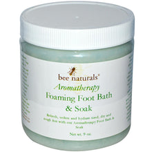 Load image into Gallery viewer, Bee Naturals, Aromatherapy Foaming Foot bath & soak - 9oz