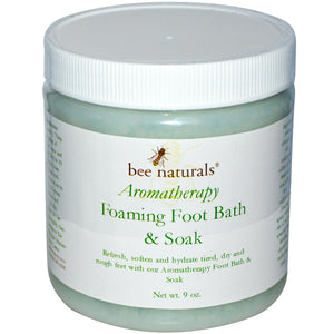 Bee Naturals, Aromatherapy Foaming Foot bath & soak - 9oz