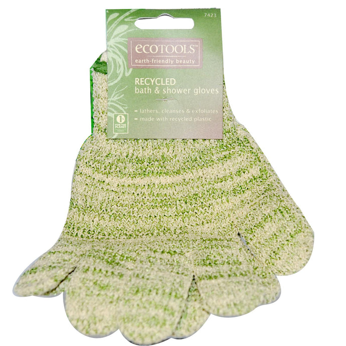 Eco Tools, Recycled Bath & Shower Gloves  (1pair)