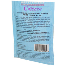Load image into Gallery viewer, Abra Therapeutics, Unicorn, Lavender Lotus Bubble Bath (70g)