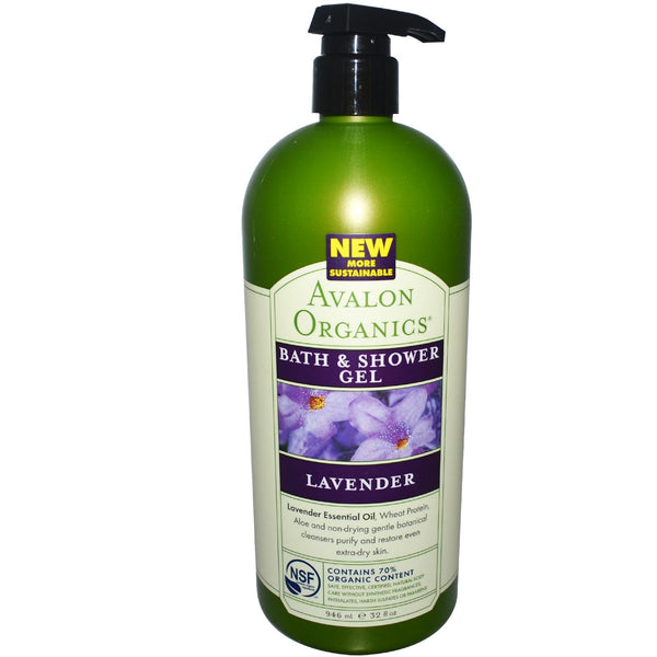 Avalon Organics Bath & Shower Gel, Lavender (946ml)