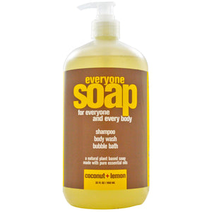 Eo Products, Everyones Soap, Shampoo, Body Wash & Bubble Bath Coconut & Lemon (960ml)