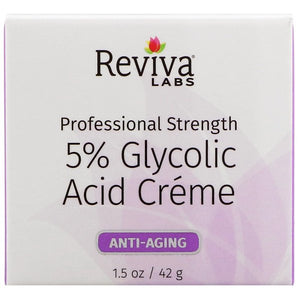 Reviva Labs, 5% Glycolic Acid Cream, Anti Aging, 1.5 oz (42 g)