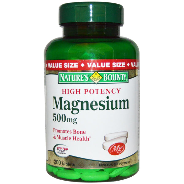 Nature's Bounty, Magnesium, 500mg, 200 Tablets ... VOLUME DISCOUNT