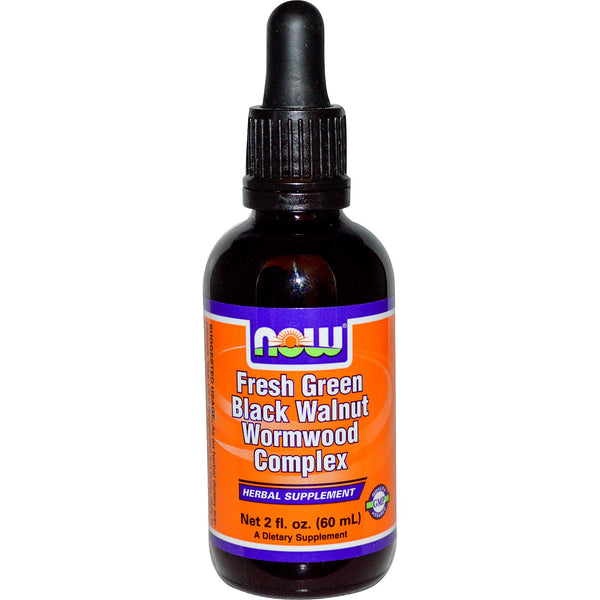 Now Foods, Fresh Green Black Walnut Wormwood Complex, 60 ml (2 fl oz)