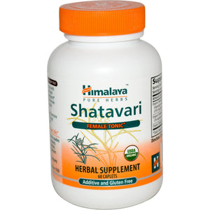 Himalaya Herbal Healthcare, Shatavari, Female Tonic, 60 Caplets, Certified Organic