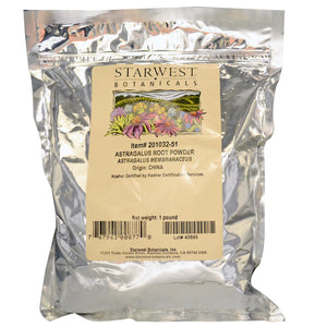 Starwest Botanicals, Astragalus Root Powder (454gm)