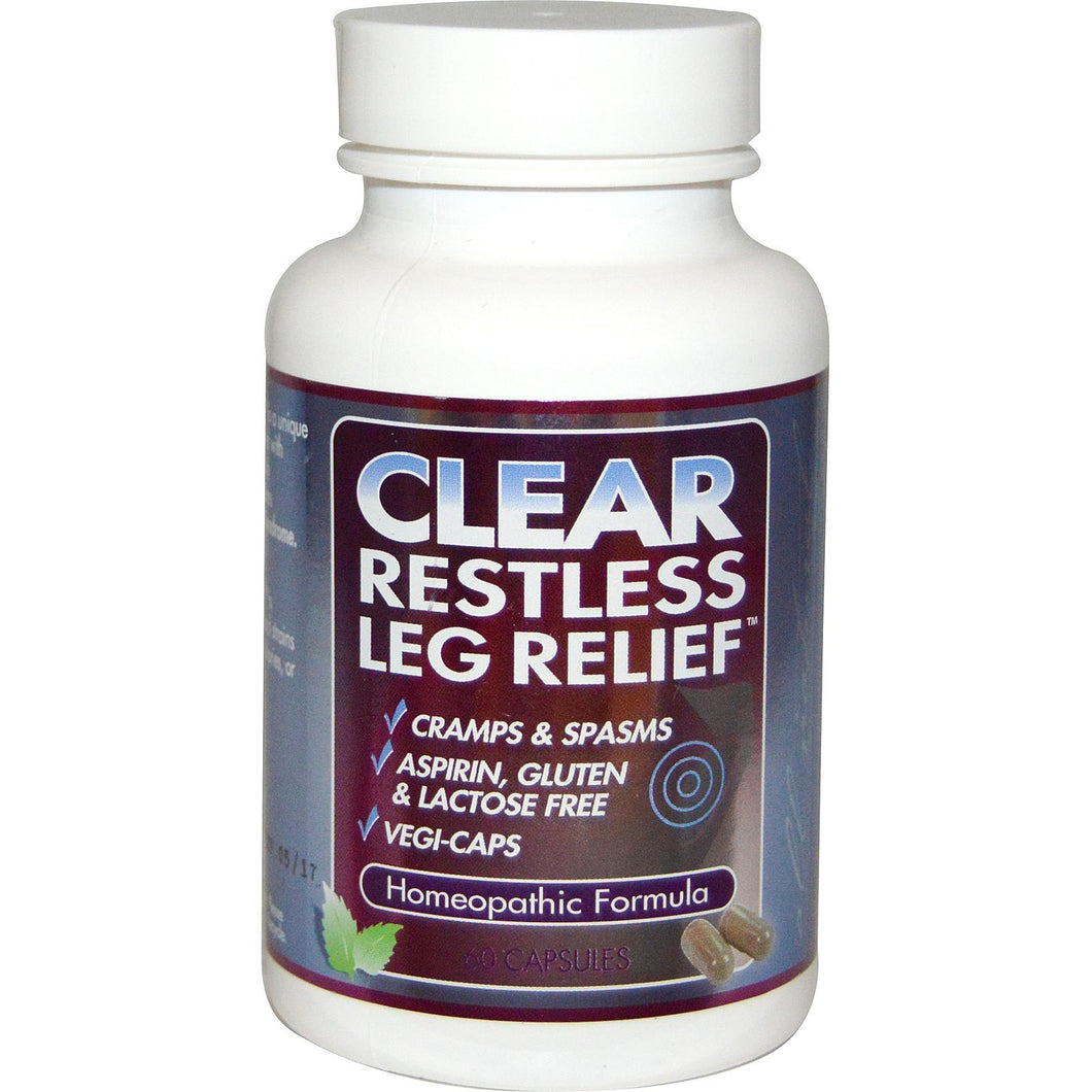 Clear Products, Clear Restless Leg Relief, 60 Capsules