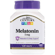 Load image into Gallery viewer, 21st Century, Melatonin, 5 mg, 120 Tablets