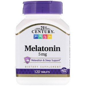 21st Century, Melatonin, 5 mg, 120 Tablets