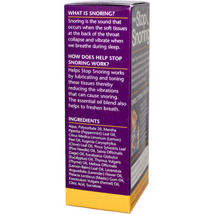 Essential Health Products, Helps Stop Snoring, Throat Spray, 59ml