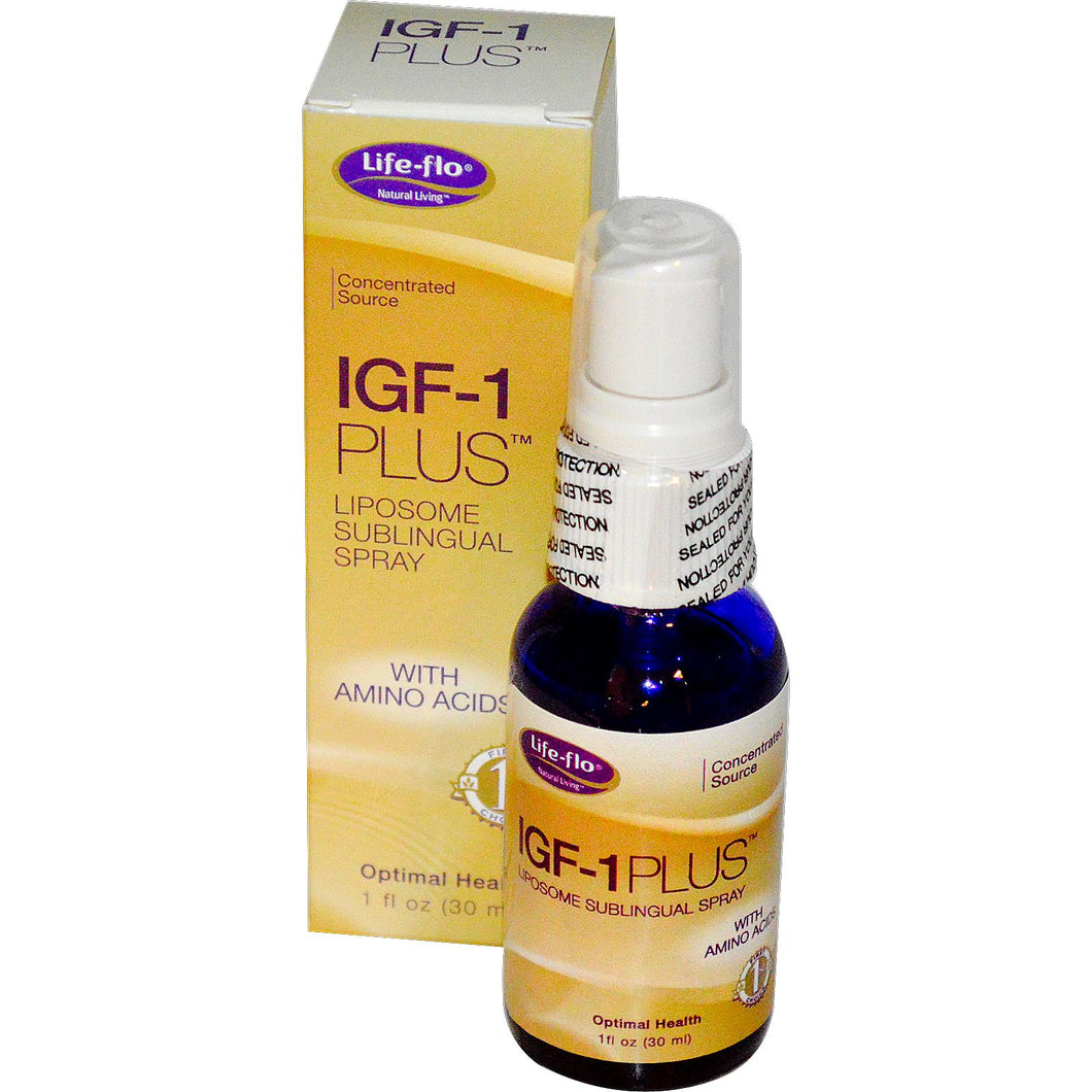 Life Flo Health, IGF-1 Plus, Liposome Sublingual Spray 30 ml