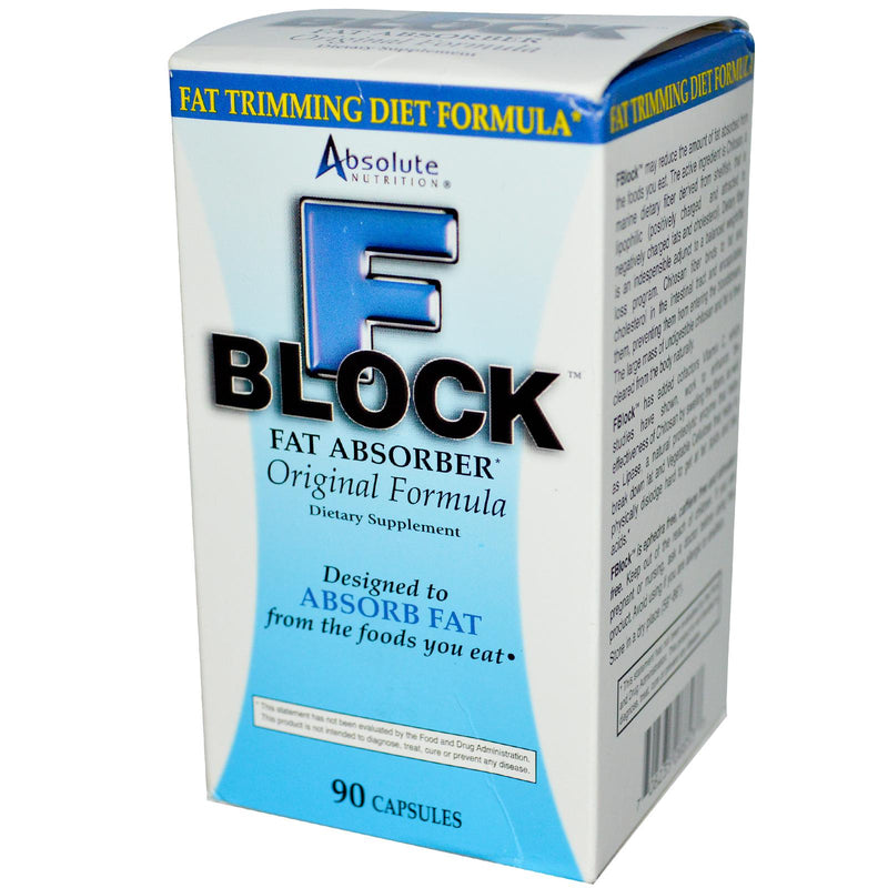 Absolute Nutrition, F Block, Fat Absorber, 90 Capsules