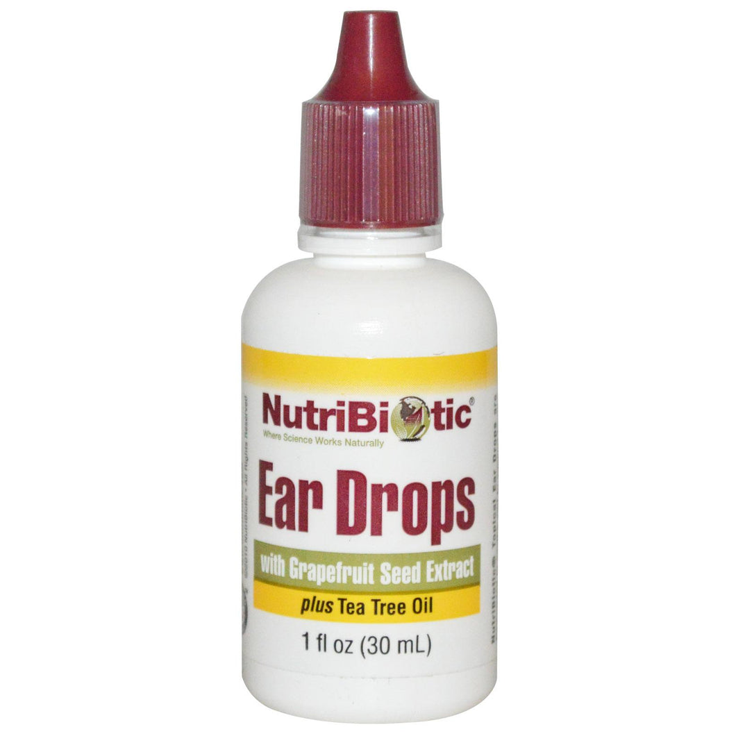 NutriBiotic, Ear Drops with Grapefruit Seed Extract, 30ml
