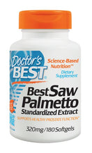 Load image into Gallery viewer, Doctor's Best Saw Palmetto Standardised Extract 320mg 180 Soft Gels