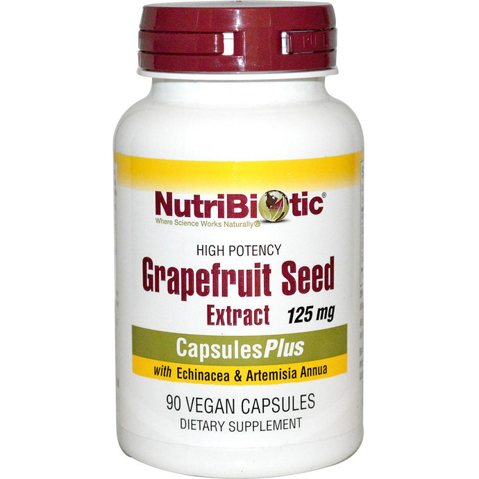 NutriBiotic, Grapefruit Seed Extract with Echinacea & Artemisia Annua, 125mg, 90 Veggie Caps