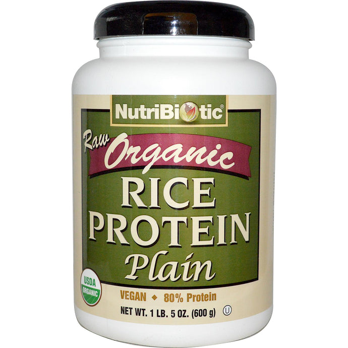 NutriBiotic Raw Organic Rice Protein Plain 600 grams