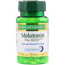 Load image into Gallery viewer, Nature's Bounty, Melatonin, 1 mg, 180 Tablets