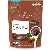 Load image into Gallery viewer, Navitas Organics, Organic, Cacao Nibs, 16 oz (454 g)