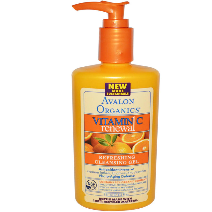 Avalon Organics, Vit C Renewal, Refreshing Cleansing Gel, 8.5 fl oz, 251ml