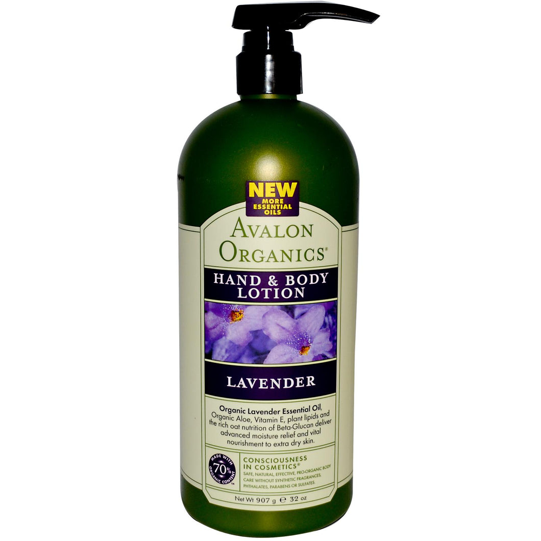Avalon Organics Hand & Body Lotion Lavender (907g)