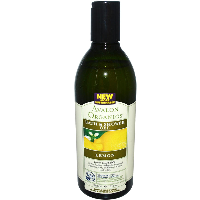 Avalon Organics, Bath & Shower Gel Lemon (355ml) - Natural supplements