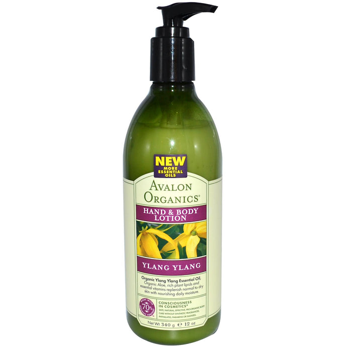 Avalon Organics, Hand & Body Lotion, Ylang Ylang (340g)