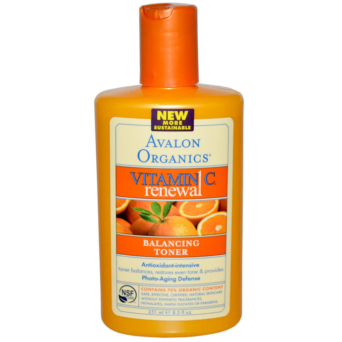 Avalon Organics, Vitamin C, Renewal Balancing Toner, 8.5 fl oz, 251ml