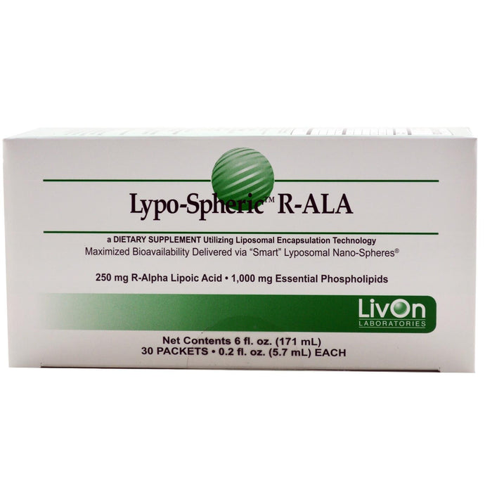 LivOn Laboratories, Lypo-Spheric R-ALA, 30 Packets, 5.7ml Each