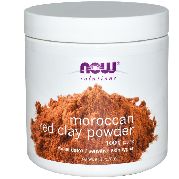 Now Foods, Solutions, Moroccan Red Clay, Facial Detox, Powder, 6 oz, 170 grams