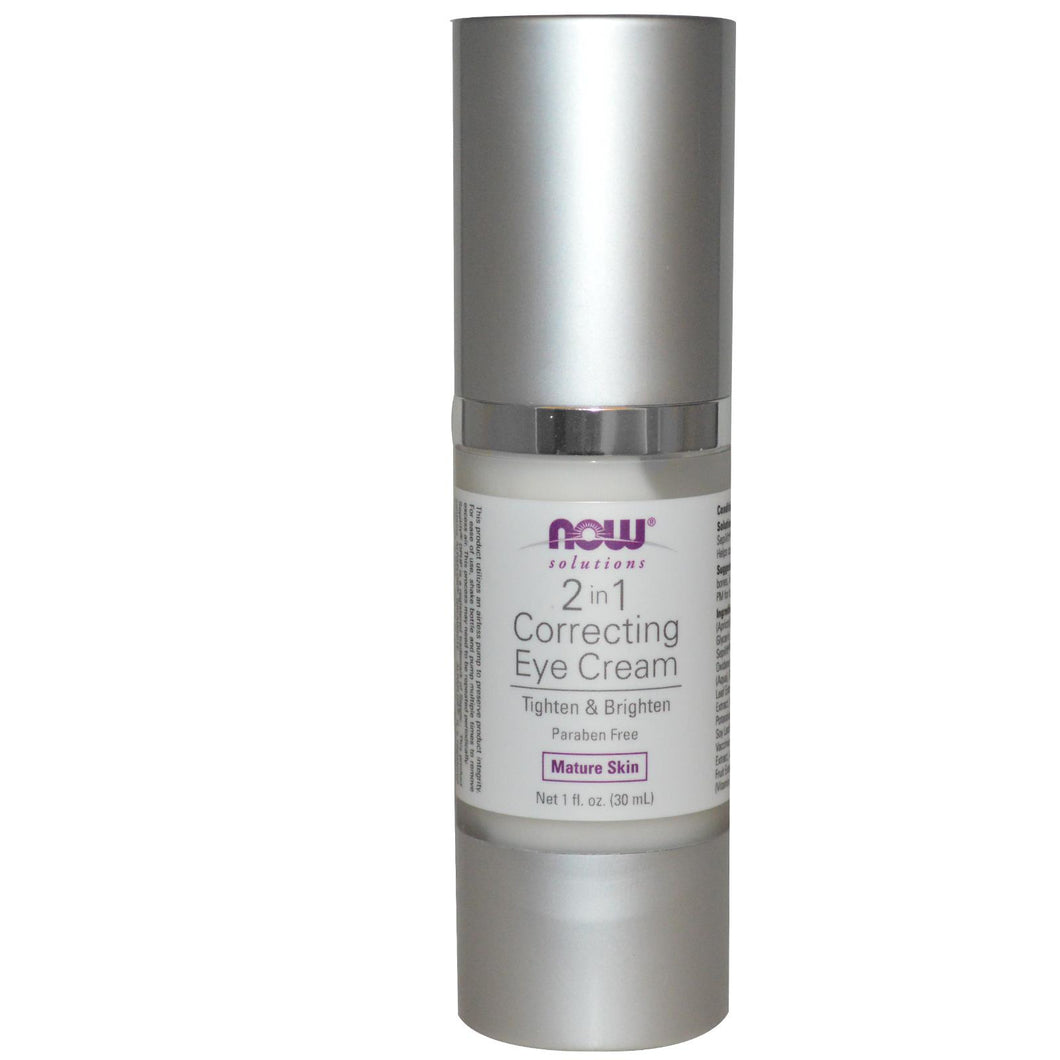 Now Foods, Solutions, 2 in 1 Correcting Eye Cream, 1 fl oz, 30 ml