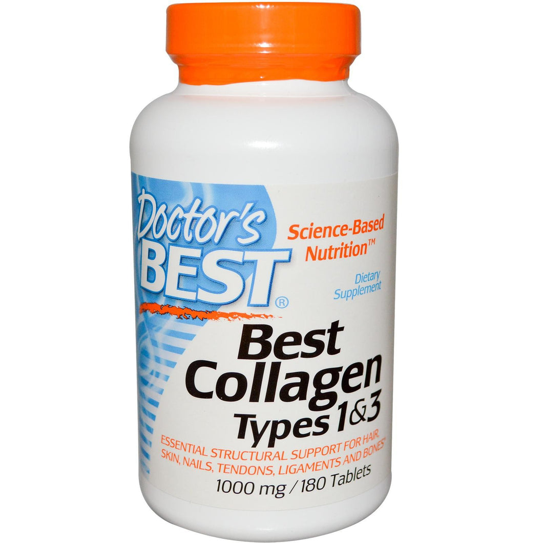 Doctor's Best Best Collagen Types 1 & 3 1000mg 180 Tablets