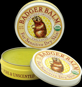 Badger Company, Badger Balm, For Sensitive Dry Skin, Unscented, 2 oz, 56 grams