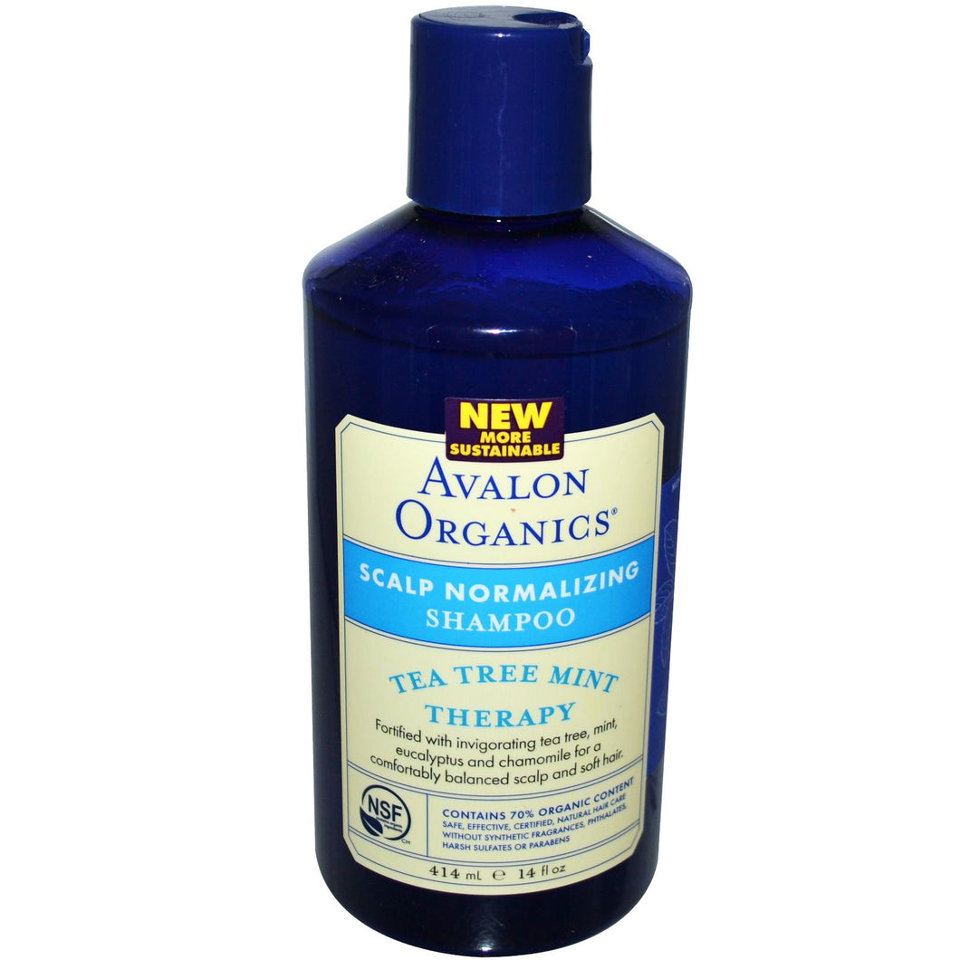 Avalon Organics, Scalp Normalising Shampoo, Tea Tree Mint Therapy, 14 fl oz, 414 ml