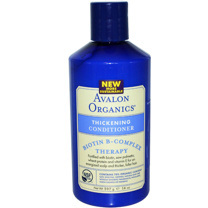 Avalon Organics, Thickening Conditioner, Biotin B-Complex Therapy, 14 oz, 397 g
