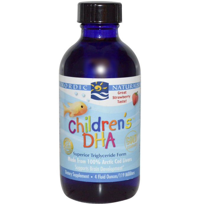 Nordic Naturals, Children's DHA, Strawberry, 119ml