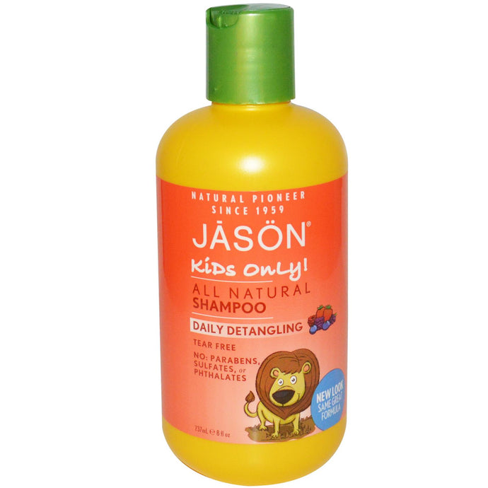 Jason Natural, Kids Only! All Natural Shampoo, Daily Detangling, 8 fl oz, 237ml