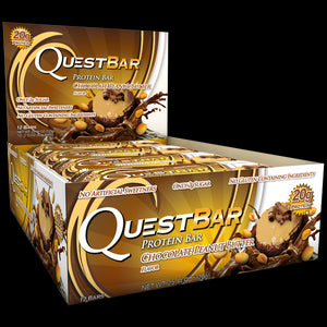 Quest Nutrition Protein Bar Chocolate Peanut Butter 12 Bars 60g Each