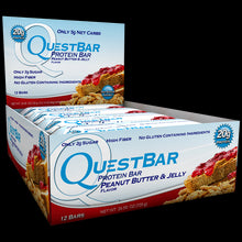 Load image into Gallery viewer, Quest Nutrition Protein Bar Peanut Butter & Jelly 12 Bars 60g Each