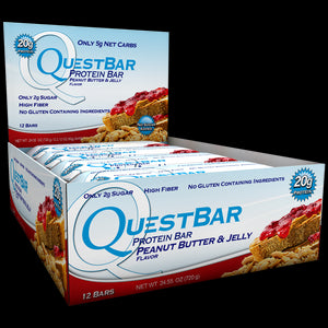 Quest Nutrition Protein Bar Peanut Butter & Jelly 12 Bars 60g Each