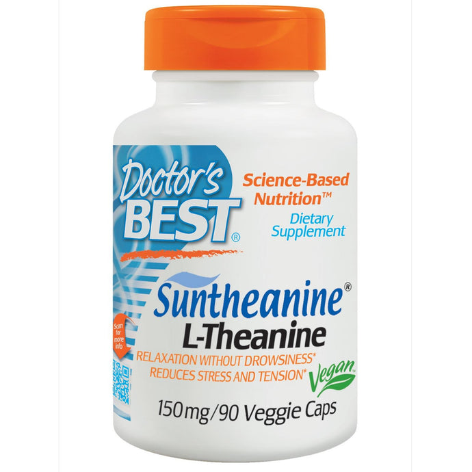 Doctor's Best SunTheanine L-Theanine 150mg 90 Veggie Caps