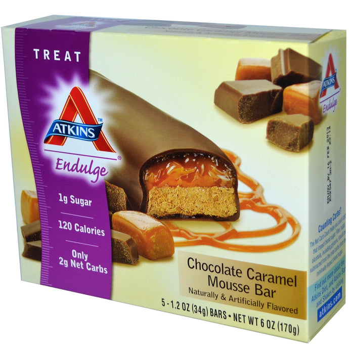 Atkins Endulge, Chocolate Caramel Mousse Bar, 15 Bars, 34 g Each