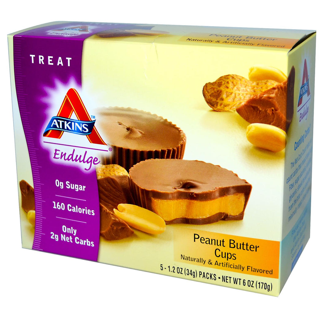 Atkins, Endulge, Peanut Butter Cups, 15 Packs, 34 g Each