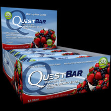 Load image into Gallery viewer, Quest Nutrition Protein Bar Mixed Berry Bliss 12 Bars 60g Each