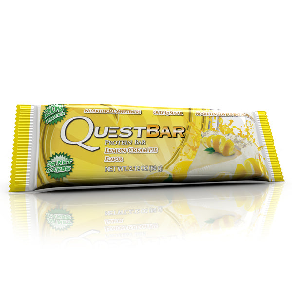 Quest Nutrition Protein Bar Lemon Cream Pie 12 Bars 60g Each
