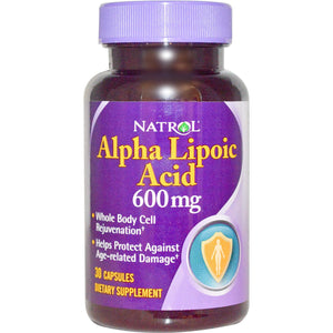 Natrol Alpha Lipoic Acid 600mg 30 Capsules - Dietary Supplement