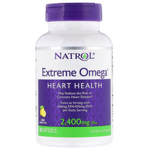 Load image into Gallery viewer, Natrol, Extreme Omega, Lemon, 2,400 mg, 60 Softgels
