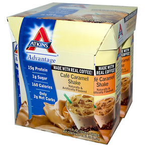 Atkins Cafe Caramel Shake 4 Shakes 325ml Each - Protein Supplement