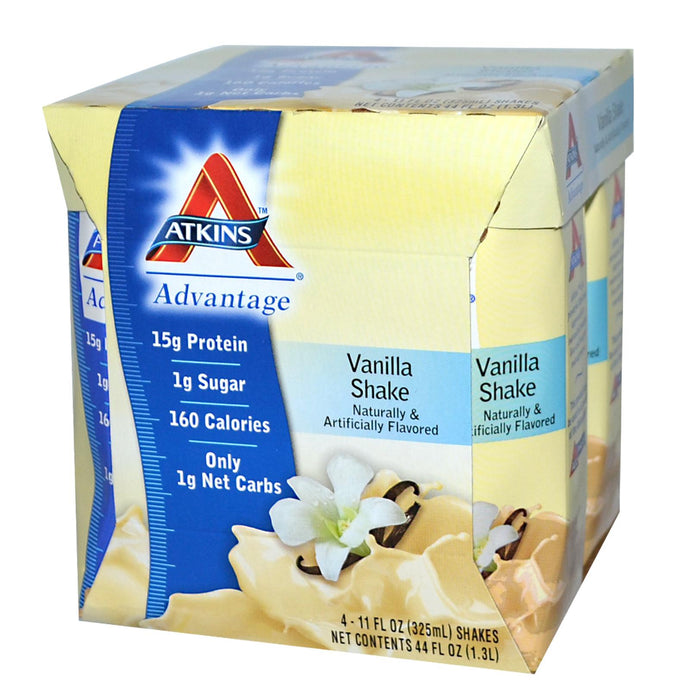 Atkins Advantage Vanilla Shake 4 Shakes 325ml Each