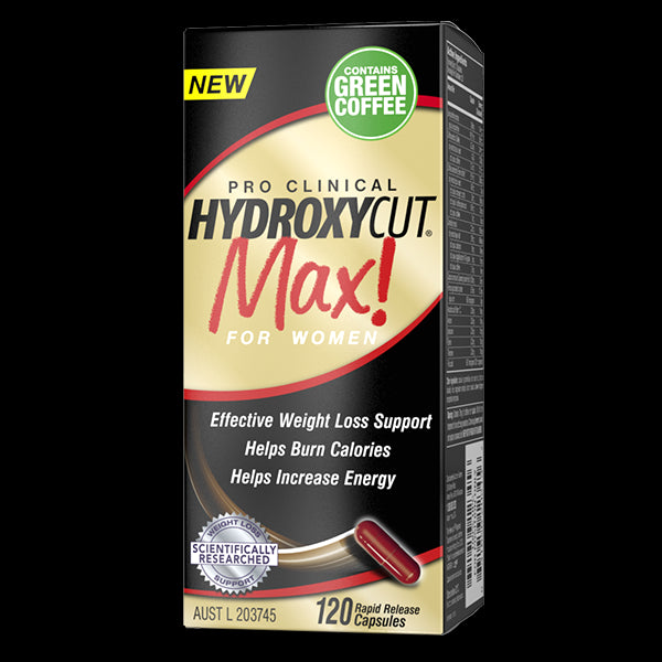 MuscleTech, HydroxyCut Max! Pro Clinical For Women - 120 Rapid Release Caplets for women
